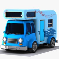 3ds max cartoon caravan cart