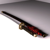 samurai katana sword 3d model