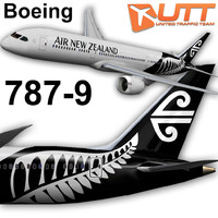 boeing 787-9 new zealand 3d obj