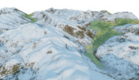 titlis engelberg switzerland 3d model