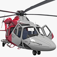 agustawestland aw139 rigged helicopter 3d max