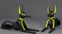 3ds max anubis god statue