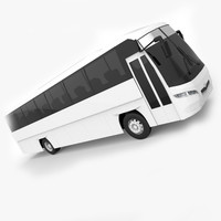 santa daewoo bv115 bus 3d max