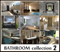 bathrooms 2 3d max