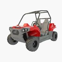 buggy kids 3d model