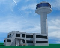 control tower airport traffic 3d model