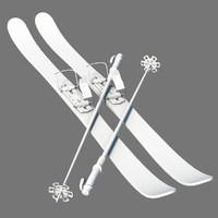 ski board obj