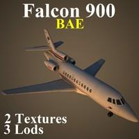 3ds max dassault falcon 900 bae