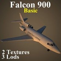 dassault alcon 900 basic 3d model