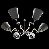 chandelier modern 3d model