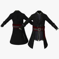 3d pirate costume 3 model