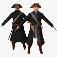 3d model pirate rigged