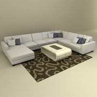 realistic modern sofa 3d model
