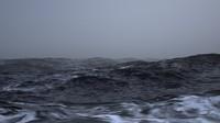 3d model scene stormy ocean