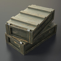 3d ammo box crate