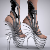 shoe female 3d max