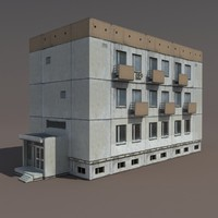 3d residential building model
