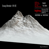 3d model snowy mountain m1-05
