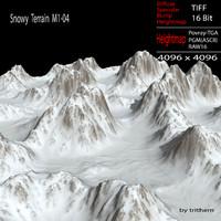 snowy terrain m1-04 3d max