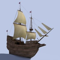 speedwell pinnace mayflower 3d max
