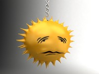 Sun sad smiley 8