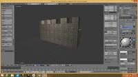 castle wall 3d model