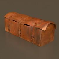 3d model old western bag