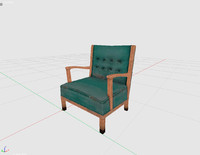 3d waiting chair