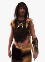 neanderthal cave man 3d max