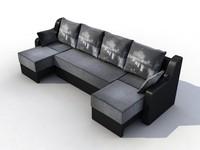 3d model modular sofa