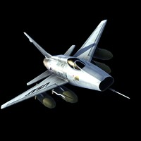 usaf f100 fighter 3d model