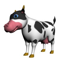 3ds max cartoon cows
