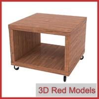 3d fbx table casters lack