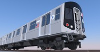 r160 subway train 3d model
