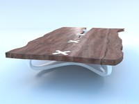 3d model wood design table