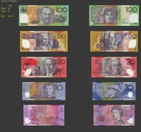 money notes australia 3d max