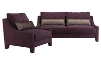 3ds max angelo cappellini rosalie sofa chair