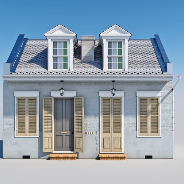 3d Creole Cottage Model