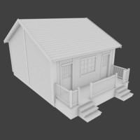 3d model hotel admin building exterior