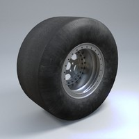 3d model wheel car tire