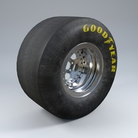 3d wheel car tire model