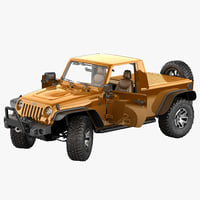 jeep wrangler moab pickup 3d model