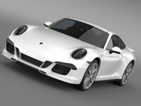 porsche 911 carerra 4s 3d model