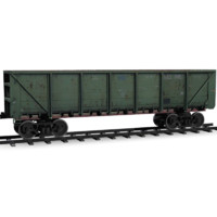 low-poly railroad car rails 3d 3ds
