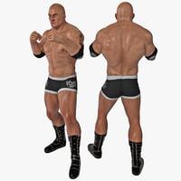 wrestler pose 1 3d model