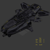 3ds max alien ship