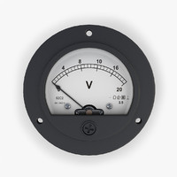 3d model analog dc voltmeter