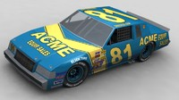 3d model of 1980 stockcar