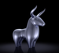 3d bull toon cartoon