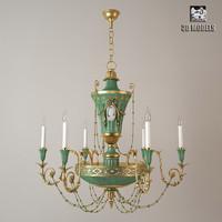 3d model chandelier delisle